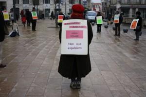 Cercle de silence sur le mal-logement à Angoulême - 2011